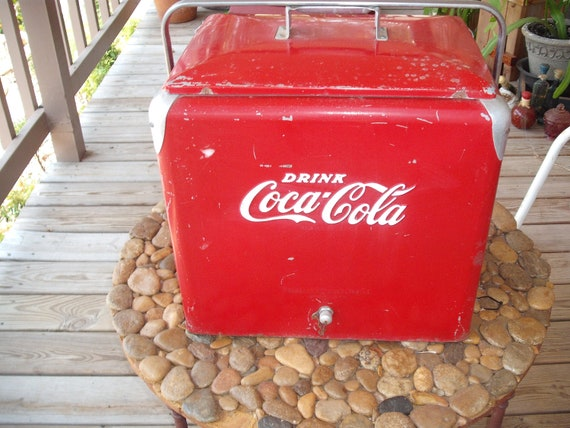 1950's Coca Cola Ice Chest with original inner tray