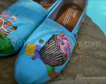 Candy Land Custom Hand Painted TOMS Shoes