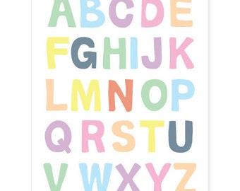 ABC Alphabet Wall Art 11x14
