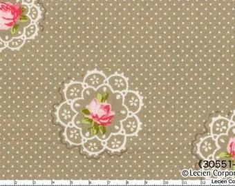 Hill Farm - Pebble Doily Flower by Brenda Riddle for Lecien Fabrics