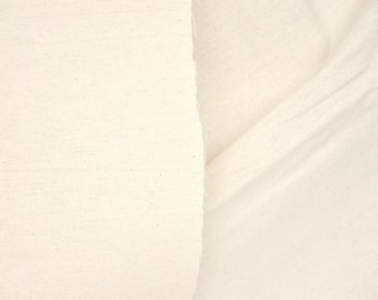 COTTON Duck Fabric. UNBLEACHED ORGANIC Cotton Fabric. 47 inch wide