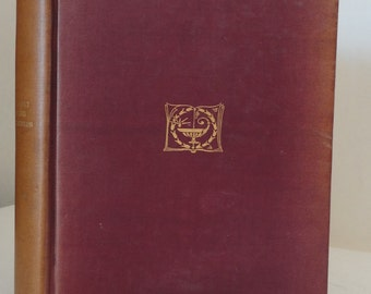 Antique Book DAVID BALFOUR Robert Louis Stevenson 1892 1895 Hard Cover top edge gilt Wine and Gold