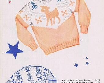 Knit-O-Graf Child's Sweater Knitting Pattern