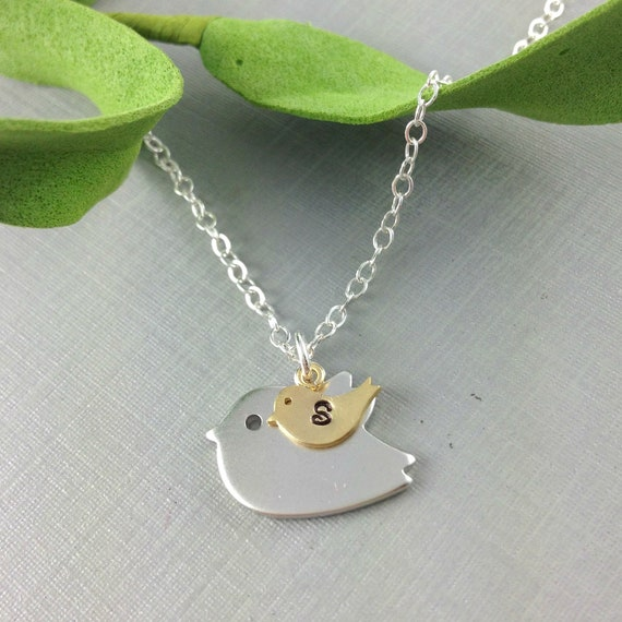 Mother necklace mama bird baby bird by anatoliantaledesign for Jewelry for mom for christmas
