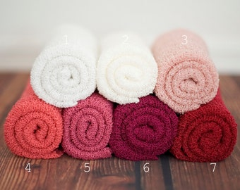 Leighton Heritage Newborn Stretch Wraps IN STOCK and Ready to Ship Super Stretch Knit Soft Swaddle Photography Prop