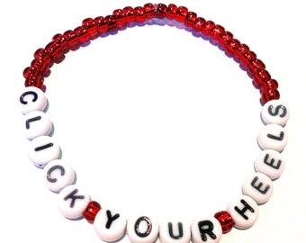 CLICK YOUR HEELS Beaded Bracelet