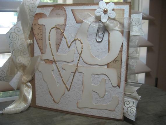 Wedding, MADE TO ORDER. love, bride, Briadal shower , 6x6 paperbag scrapbook album