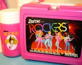 Barbie and The Rockers Lunch box and thermos 80s barbie sensation retro and awesome set to start school with