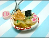 Ramen Noodle Bowl Mobile Strap, Japanese Food, Miniature Food, Ramen, Noodle, Phone Charm
