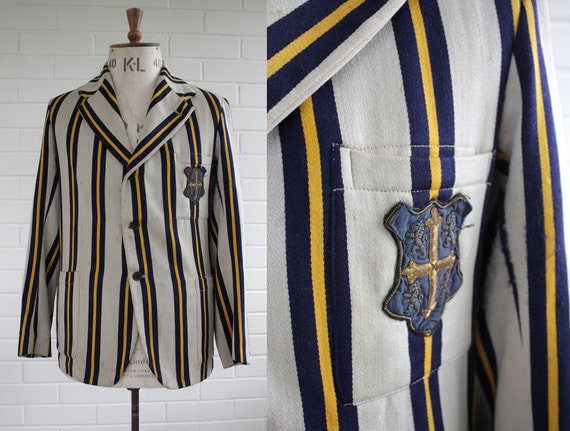 Vintage 1920s Mens Tailored Cricket Blazer Size M