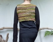 Earth Nymph Bodice, RESERVED, hand knitted in hand spun, hand painted merino wool