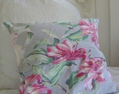 Vintage Fabric Pillow Cover Tropical