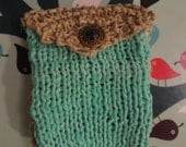 Knitted Hemp Trinket Coin Purse Made to Order