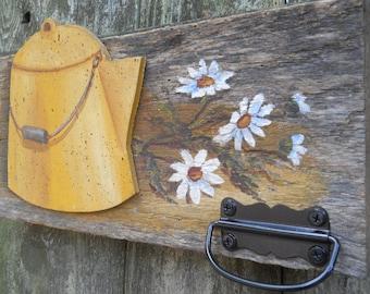 Barn Wood/ Wall Decor/Kitchen Decor/ Art Decor/Towel hanger/Housewares/farmhouse