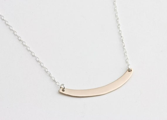 Swing Necklace in Bronze w/Sterling Silver Chain
