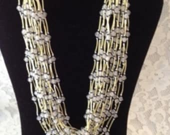 AWESOME FAUX BAMBOO Multi Strand Necklace