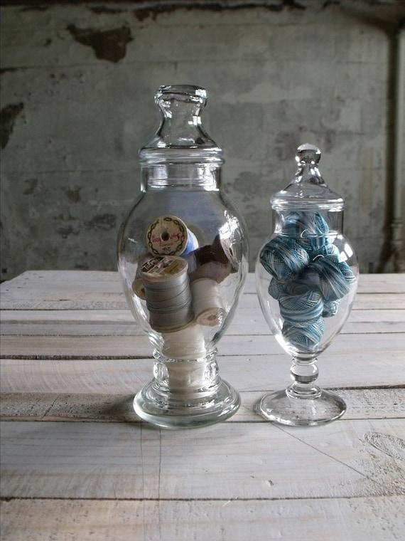 2 Vintage Apothecary Jars - Set 3