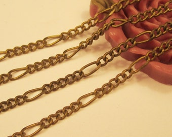 16ft 2.3mm Antique Brass Twisted Cable Link Chains brass chain