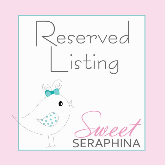 Reserved Listing for Nicole H.
