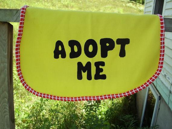 Dog Adopt Me Vest Medium/Large Yellow with Red & White Trim