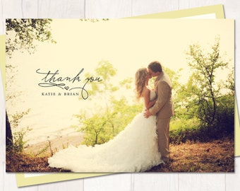 Wedding Thank You Postcard or Magnet - Sunshine