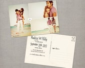 """Save the date / Vintage Save the Date Postcard / Save the Date Card / Save the Date Postcard / Vintage Save the Date Card - the """"Madelyn 1"""""""