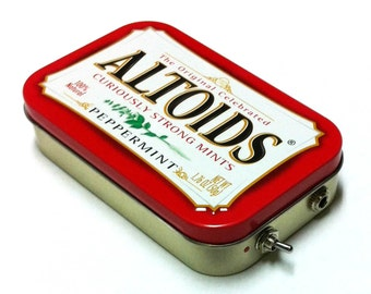 Portable Altoids Amp and Speaker for iPhone MP3 Player -Red/Red handmade husband gift
