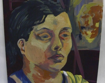 Weary Female Portrait painting