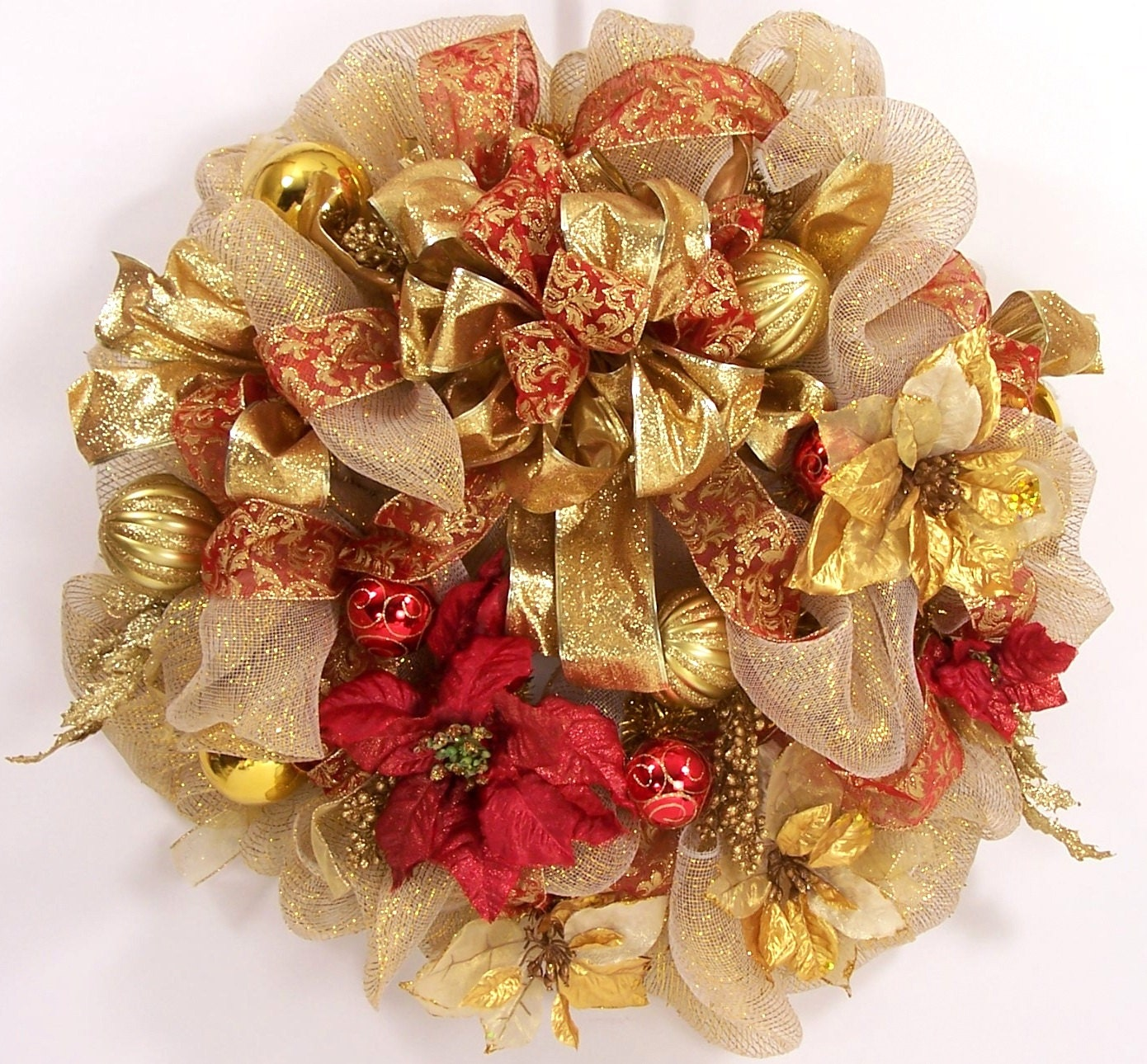 Image result for christmas red package with gold ribbon