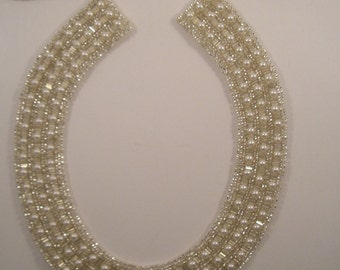 Pearl Encrusted Beaded Collar--One Piece