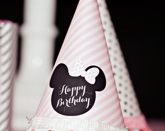 Minnie Mouse Party Hat  - Printable