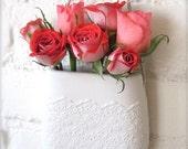 Porcelain Flower Lace Hanging Wall Pocket