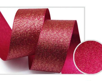 Metallic Sparkle Magenta Satin Ribbon - 15mm(5/8'') , and 25mm(1'')
