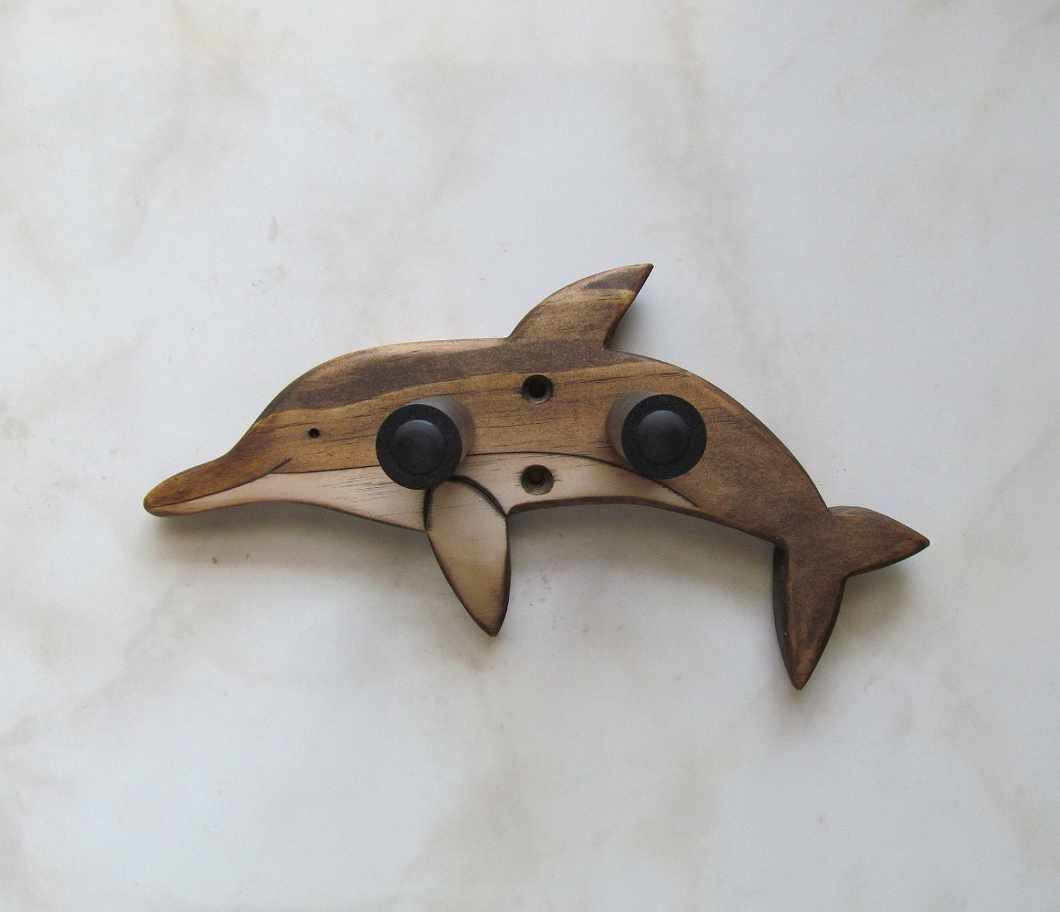 ukulele wall mount hanger dolphin brown by toucanmango on etsy. Black Bedroom Furniture Sets. Home Design Ideas