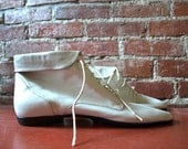 White Leather Ankle Boots 11M