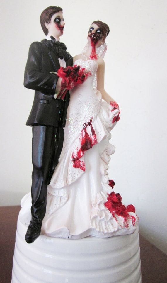 Items similar to Zombie Cake Topper- Altered figurine ...