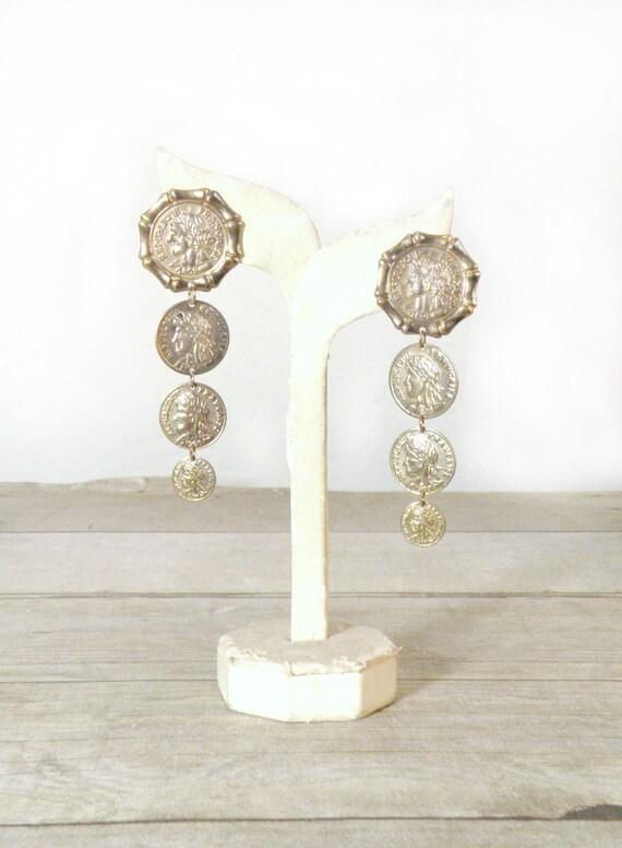 vintage earrings, gypsy summer