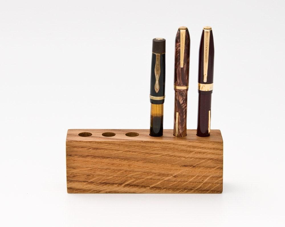 Wood Pen Holder Fountain Pen Holder Desk Organizer By