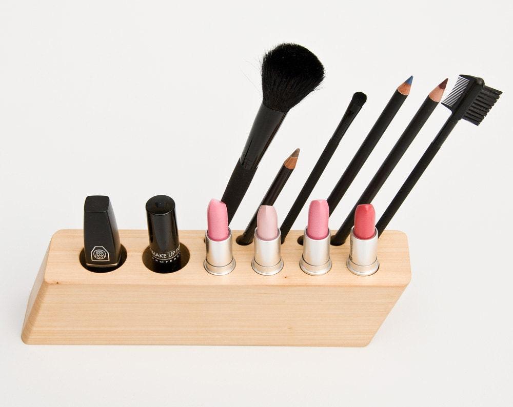 Countertop Makeup Organizer Wood Cosmetic Organizer Makeup
