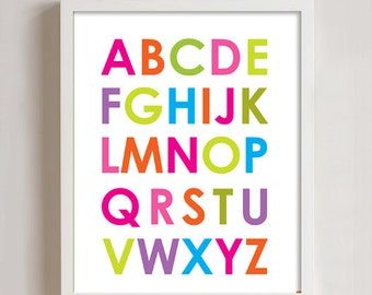 8x10 - Alphabet and Numbers Print wall art