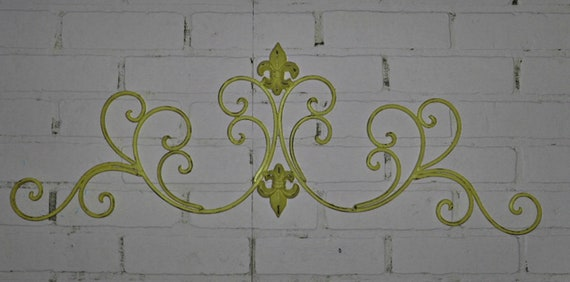 Items Similar To Wrought Iron /Fleur De Lis Wall Decor