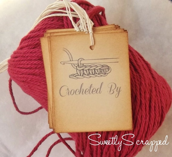 Crocheted By Tags, Labels, Gift Wrap, Packaging