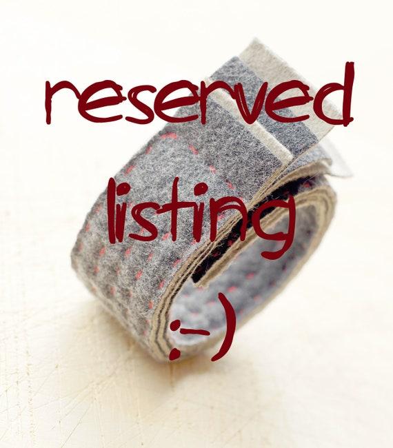 Reserved listing for Alyssa - felted bracelet