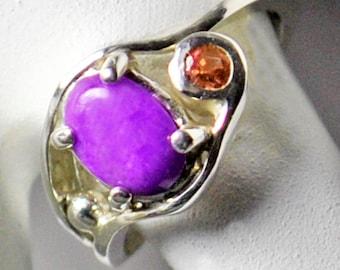 Sugelite Tourmaline Ring