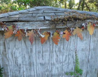 FALL Autumn Leaf Garland, Made To Order