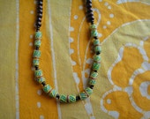 African Trade Beaded Necklace Prayer Bead Mala Rasta Mens Long Statement