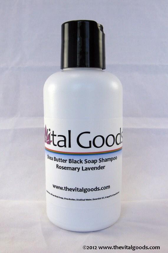 Dreadlock Shampoo Rosemary & Lavender Shea Butter Black Soap Shampoo 4oz