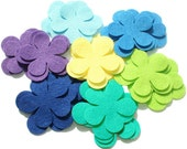 Felt Flower Shapes IV - PEACOCK Set of 28 pieces