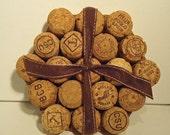 Upcycled Champagne Cork (wine cork) Trivet-Hexagon