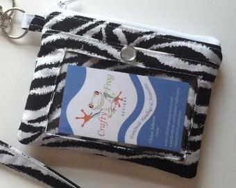 RESERVED  Zipper Pouch - ID holder - custom order